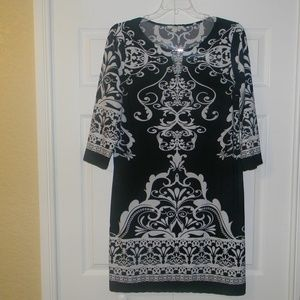 Haani Black/White Dress  Size 2X